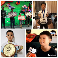 Extra! Sponsored by Huizhou Fullymax Battery Co., Ltd., the 8-year-old Mengwa player won the first championship